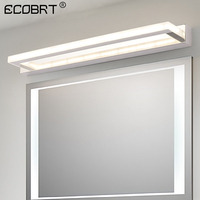 ECOBRT Modern LED Bathroom Mirror Light 9W 42CM Stainless steel Acrylic Wall Lamp 85 240VAC