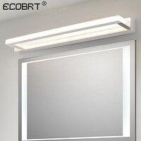 ECOBRT Modern LED Bathroom Mirror Light 9W 42CM Stainless steel Acrylic Wall Lamp 85 240VAC