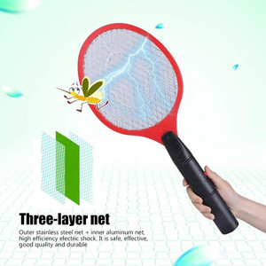Image 3 - Home Electric Fly Mosquito Swatter Mosquito Killer Bug Zapper Racket Insects Killer Cordless Battery Power Mosquito Trap Swatter