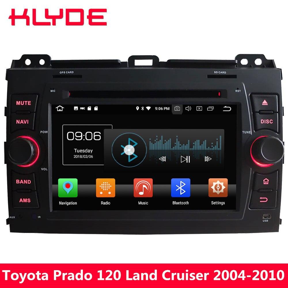 KLYDE 4 г Octa Core Android 8,0 4 ГБ Оперативная память 32 ГБ Встроенная память DVD мультимедиа плеер радио для Toyota land Cruiser Prado LC120 2004-2010