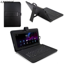 New 10.1 Inch USB Keyboard Android Tablet PC Leather Case Cover USB Keyboard Stand gift Keyboard cover Black