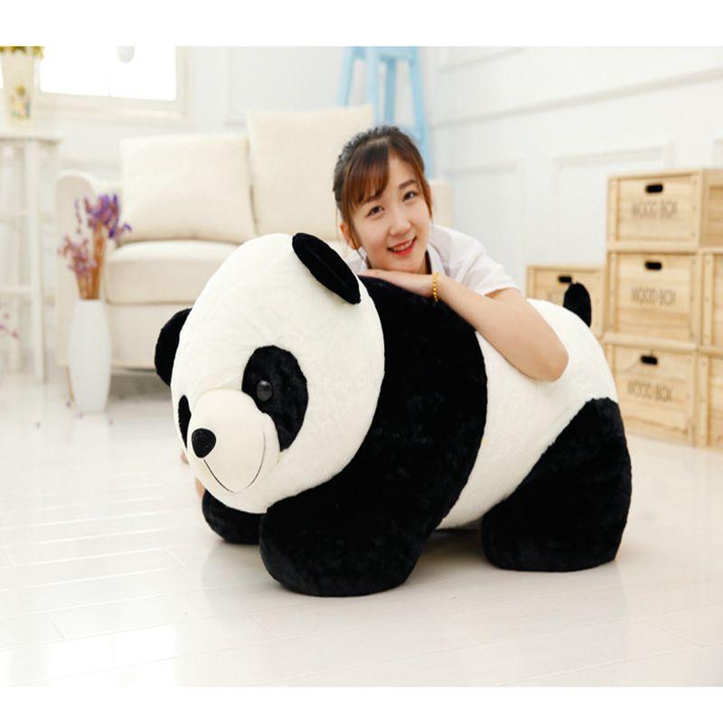 90 cm joli animal en peluche Grand Bambou Panda peluche poupée d'enfants oreiller mou Kawaii Bébé Chinois cadeaux pour Enfants livraison directe
