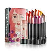 12 Colors Set Ryukin Pearly Luster Lipstick Kyliejenner Easy To Wear Long Lasting Lips Makeup Lipstick