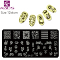 KADS 6CM*12CM monkey nail stamping plates patterns stainless steel nail art stamping plates for Nail Template Stencil DIY