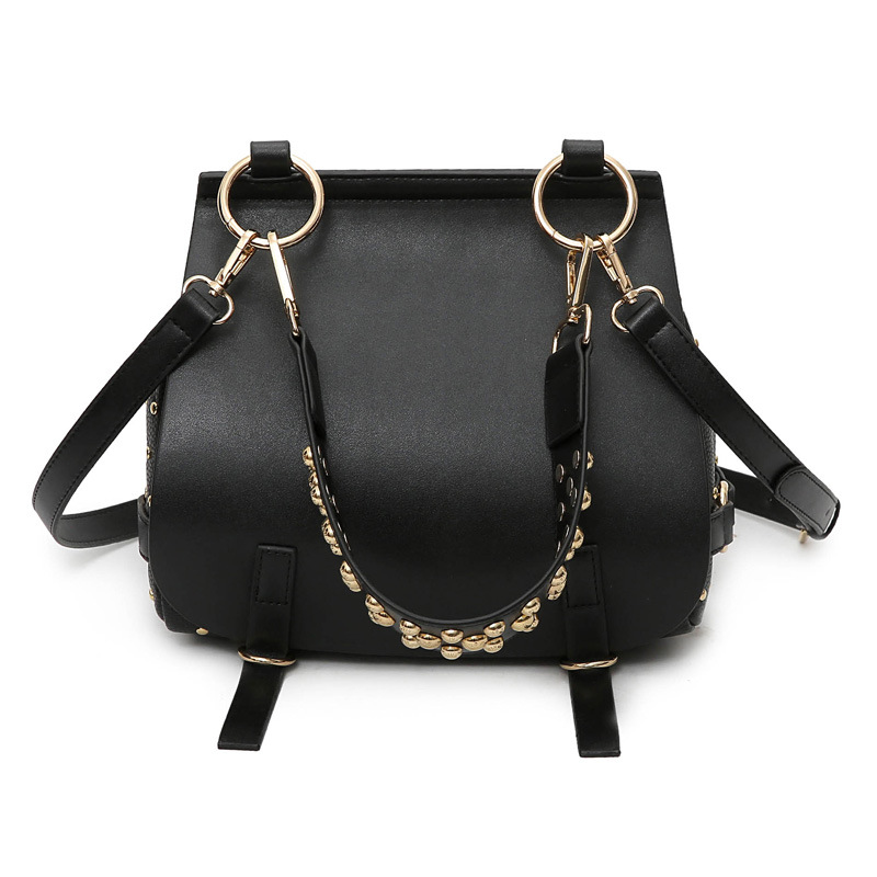 Fashion Brand Rivet Women Crossbody Bag Women Bag Handbags Ladies PU Leather Famous Designer Brand Bags Saddle Tote Bags Kabelky