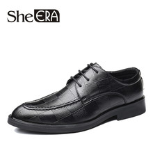 New Fashion Luxury Italian Men Brogue Dress Shoes Formal Business Oxfords Shoes for Men British Brand Men Leather Flats Dropship(China)