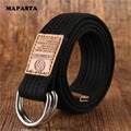 2016 double new ring canvas belt man casual canvas Belt Jeans woman double ring D type buckle fashion 18 belt color