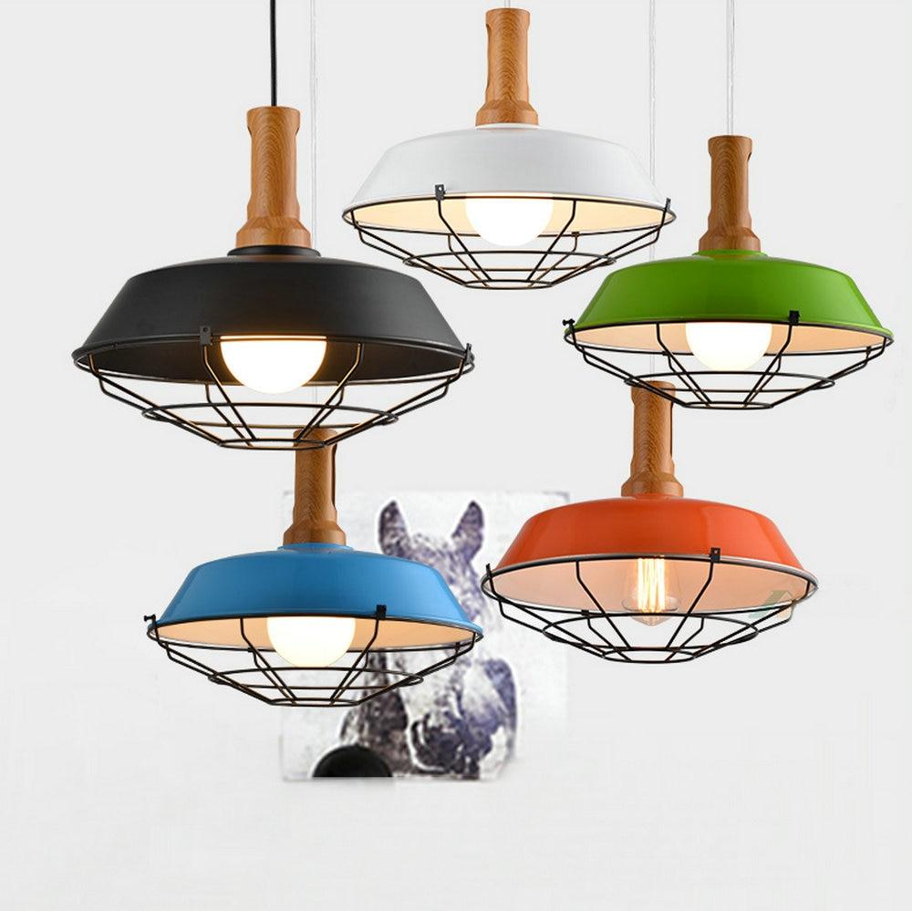 Vintage Rustic Metal lampshade Edison Pendant lamp lights Retro Lustre shade hanging lampe Fixture Industrial lighting
