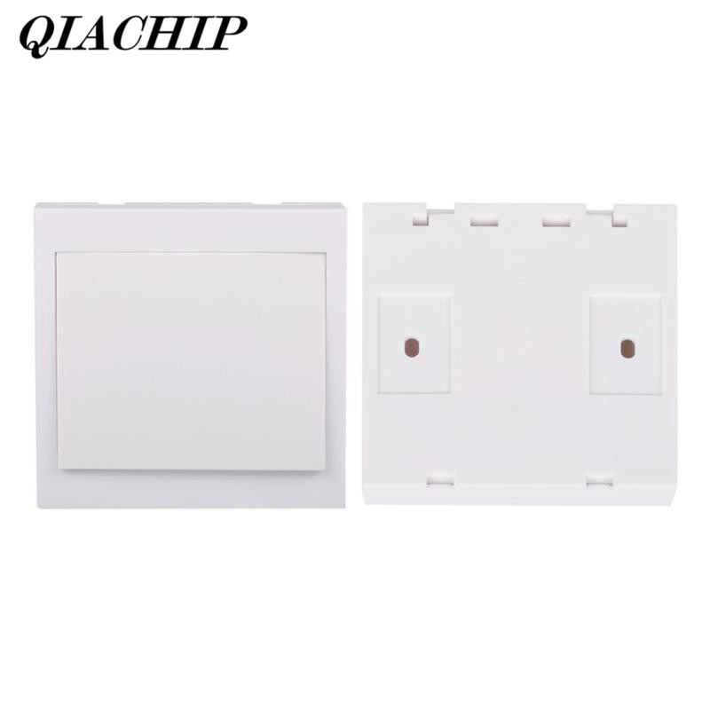 QIACHIP 433MHz 12V 1CH Wireless Wall Remote Control Switch Buttons Remote Smart Home Transmitter Living Panel RF Light LED DS30 2017 smart home crystal glass panel wall switch wireless remote light switch us 1 gang wall light touch switch with controller