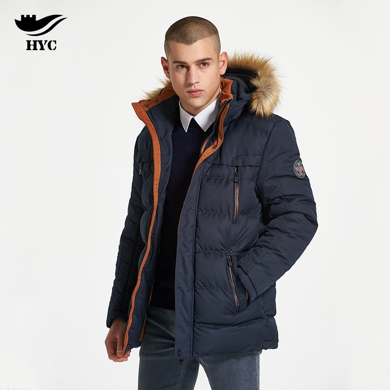 HAI YU CHENG Winter Coat Male Windbreaker Quilted Puffer Jacket Mens Winter Parkas Military Jacket Male Coat Parka Anorak 7700 hai yu cheng winter parka men puffer jacket coat male thick trench luxury brand men windbreaker snow wear parka jacket l 188 07