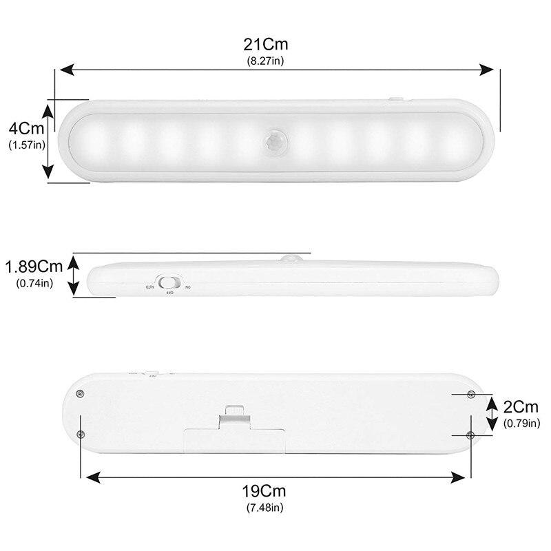 Led-lampen Kompetent Smuxi 20 Led Licht Drahtlose Pir Auto Motion Sensor Infrarot Tisch Lampe Nacht Licht Automatische Menschlichen Körper Sensing Schrank Treppen GroßEr Ausverkauf