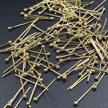 FLTMRH 100 шт 16x0,5 мм шариковая головка булавка медный Золотой ювелирный бисер фурнитура ювелирные аксессуары для ювелирных изделий DIY