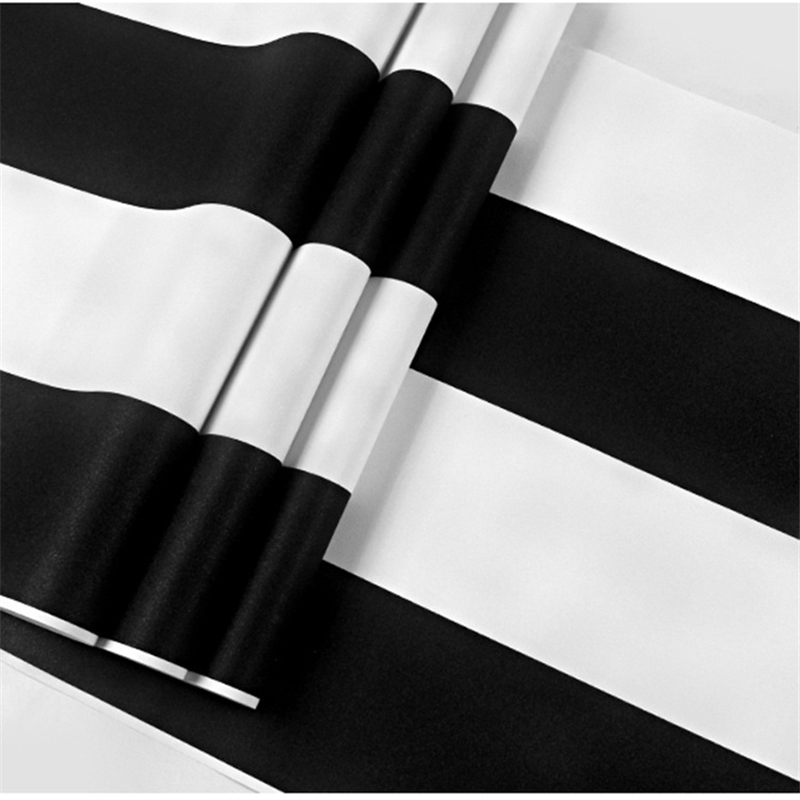beibehang Modern minimalist black and white stripes PVC wallpaper living room bedroom restaurant clothing store TV background free shipping hepburn classic black and white photographs women s clothing store cafe background mural non woven wallpaper