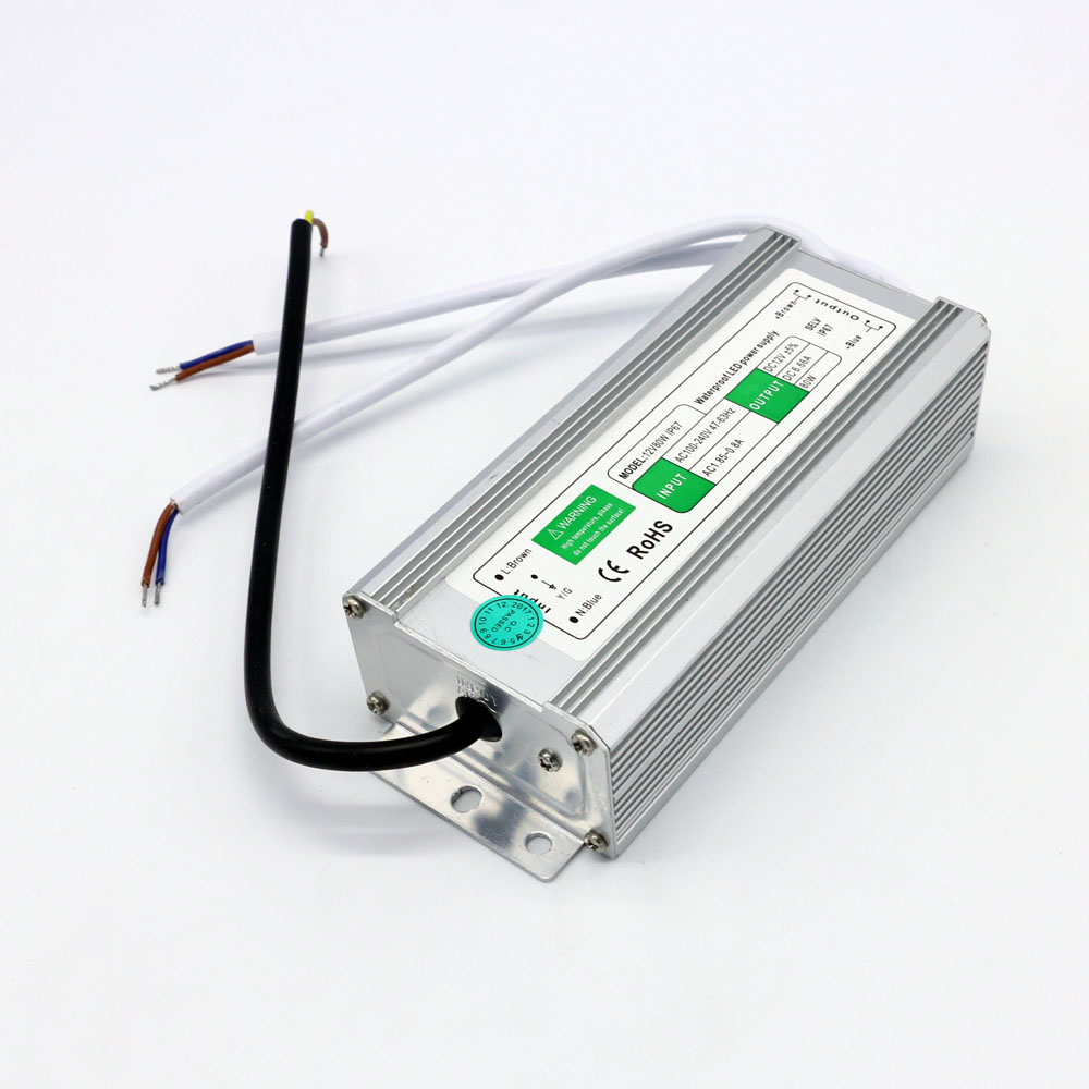 IP67 Waterproof Led Power Supply Ac 100~240V to Dc 12V 80W Driver meanwell 12v 132w ul certificated clg series ip67 waterproof power supply 90 295vac to 12v dc