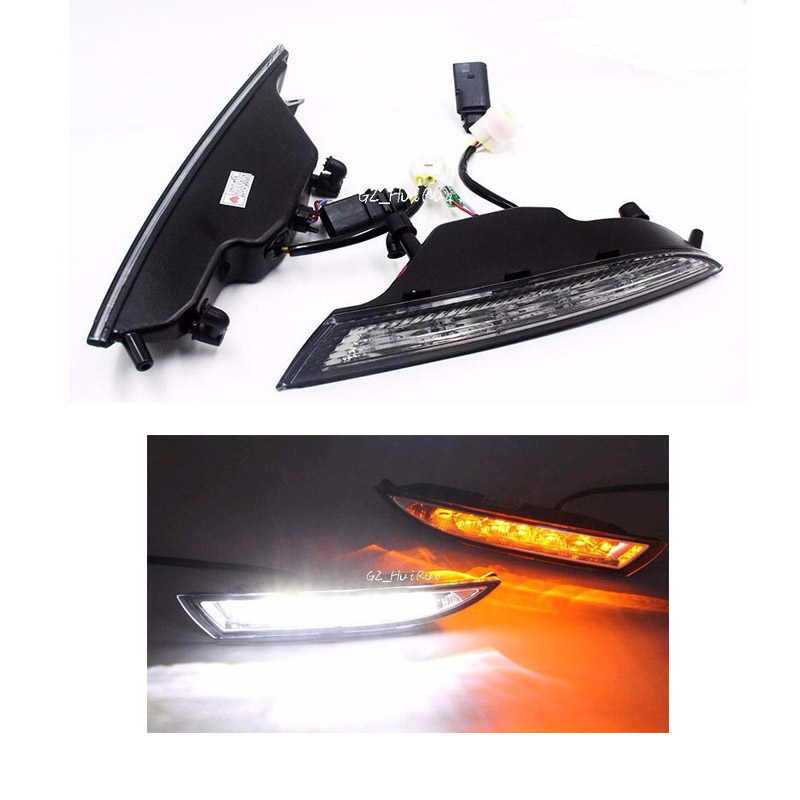 Day Light For Volkswagen VW Scirocco 2010 2011 2012 2013 2014 2015 LED DRL Daytime Running Light Daylight With Turning Signal