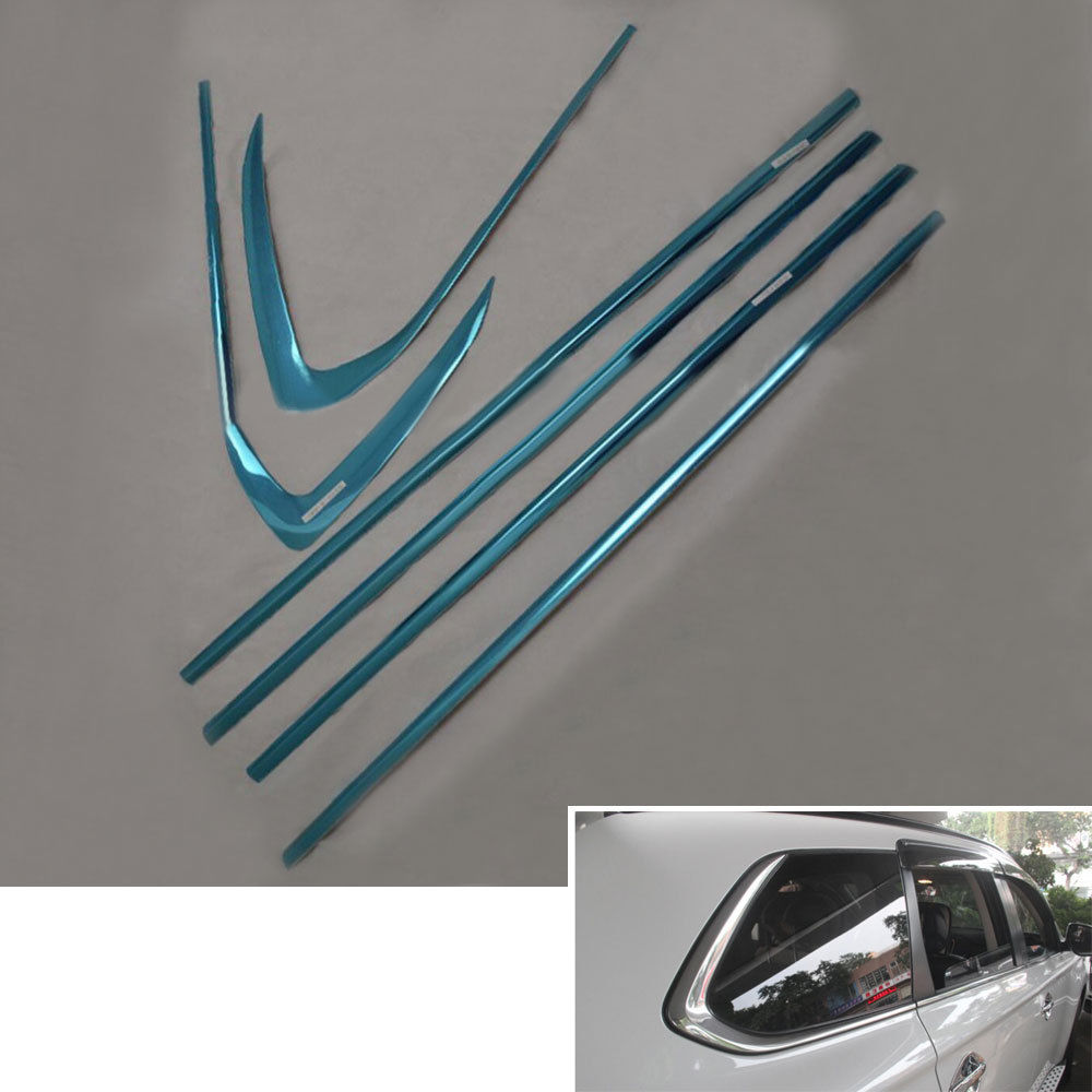 6 pcs/set Stainless Steel Button Window Sill Frame Stripe Cover Trim Strip Decoration For Outlander 2013-2016 Car Styling stainless steel upper window frame sill trim 8pcs for fusion mondeo 2013 2014