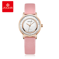 JULIUS Authentic Double Level Shake Ball Fashion Candy Colors Female Student Student Quartz Waterproof Watches Female