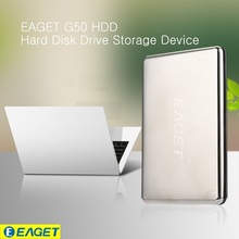 EAGET G50 External Hard Drive 500GB HDD Stainless Steel Body Encryption USB3.0 High-Speed Computer 500G 1TB Hard Disk Hot Sell