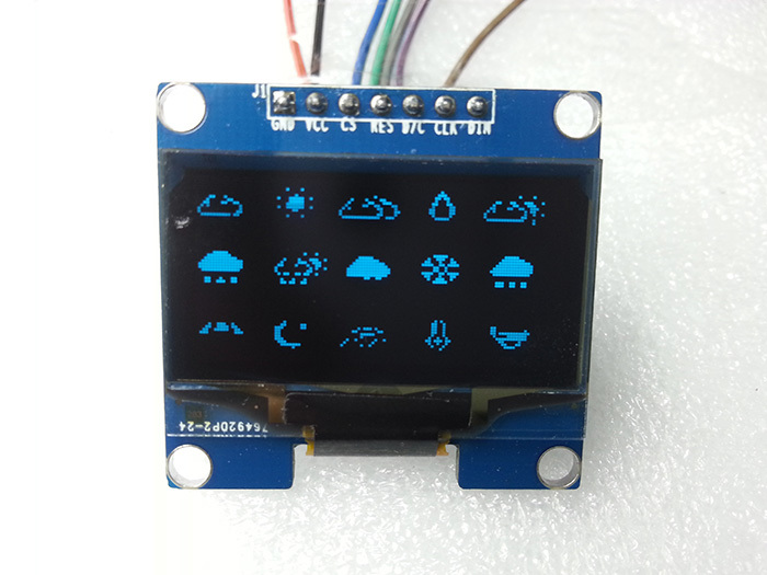 US $5 95 |1pcs 1 3 inch OLED display module high resolution 128X64 Blue on  black,3 wire SPI 4 wire SPI IIC interface for UNO R3-in LCD Modules from