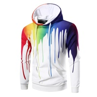 2018 Men's casual hoodies &sweatshirt brand men winter autumn new fashion 3D irregular ink printing Hoodies coat M 3XL size