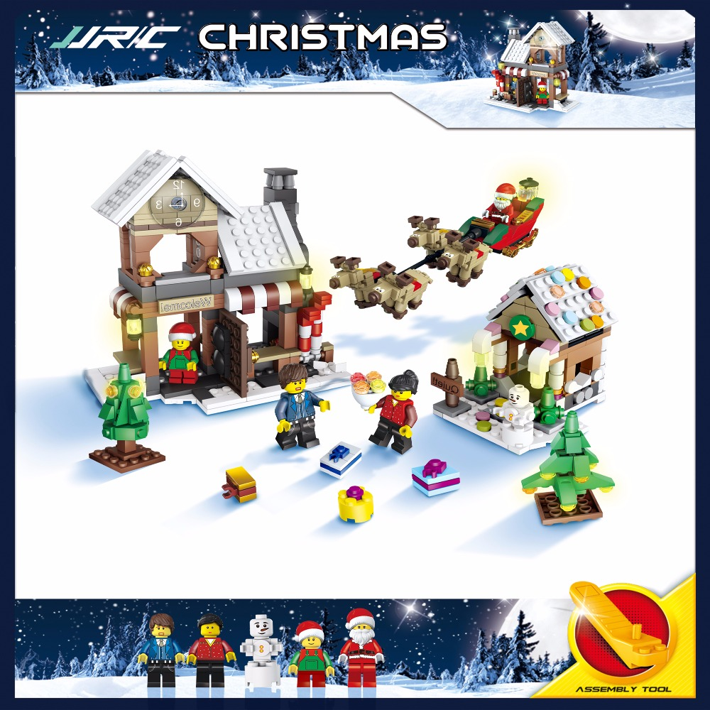 The New JJRC1001 Lepin City Construction Series Building Blocks DIY Christmas Gift For Kid Legoe City Winter Christmas Hut Toy lepin 02012 city deepwater exploration vessel 60095 building blocks policeman toys children compatible with lego gift kid sets