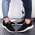 2017 НОВАЯ Мода Мужчин повседневная обувь, мужская квартиры Обувь мужчины дышащий Zapatillas любители Повседневная Обувь размер EUR: 39-44,2 Цвет