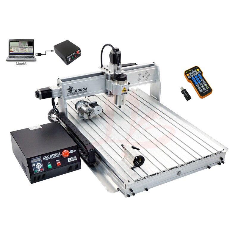 2200W woodworking machinery CNC 8060 engraver area 790x585mm USB MACH3 Ball screw
