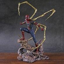 鉄スタジオiron spider pvcスタチューアクションフィギュアコレクタブルモデル玩具