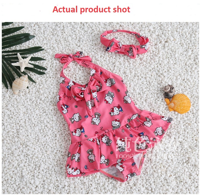 Girls Elsa Anna Printed Swimwear Baby Girls One Piece Beach Swimming Suit Clothes Baby Bathing Swimsuit Clothing