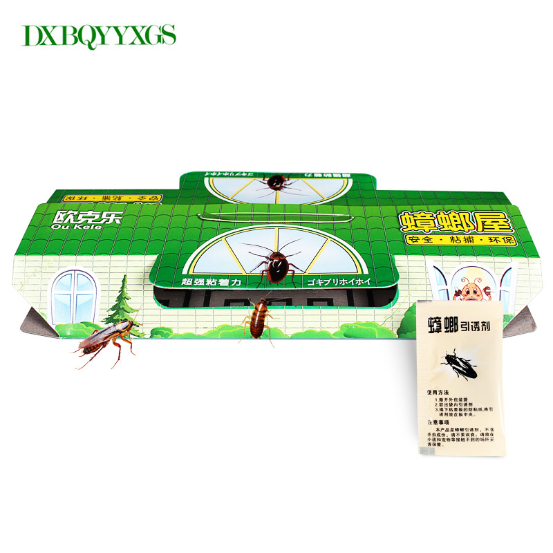 10 PCS/Lot Cockroach House Killer Animal Insect Net Bait Reject Catcher Pest Repeller Roach Black Beetle Trap Anti Blackbeetle