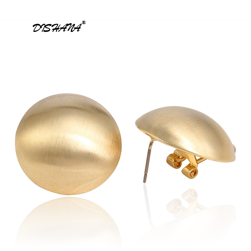 abddb0b3ae9e Marca moda Stud pendientes para las mujeres oro de color brillante bola  forma earing Regalo de Cumpleaños joyería oorbellen (E0407)
