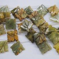 7 Pieces/Lot Nature Jade Stone,Carving Leaf Shape,Loose Stone Beads Accessories & DIY Jewelry,Size: 35x35mm