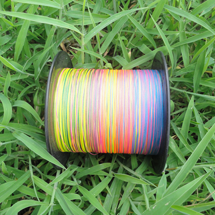 ФОТО 4 series of 500 meters PE sub fish line horse 4 shares strengthen colorful knitting fishing stream line