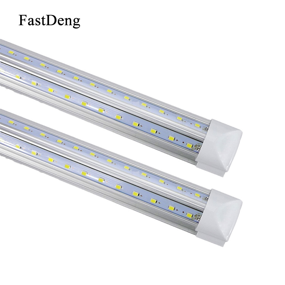 LED Tube T8 Integrated 600mm 2FT 20W V-Shape Led Bulbs Tubes Light 2Feet AC85-265V 96LEDs SMD2835 2000lm 270 Degree CE ROHS led t8 integrated tube 10w 600mm 110v 220v 85 265v transparent clear cover milky cover free ship 2ft white warm white smd2835