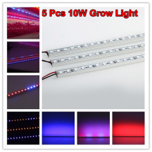 5pcs 0.5M Blue 450nm Red 660nm 10w grow light bars light strip Hydroponic Plant flowers vegetables Greens LED Grow plant growing