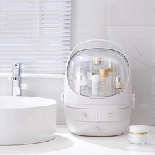 Makeup Organizer Box Desktop jewelry cosmetic storage box Transparent cover waterproof Room bathroom toilet High capacity