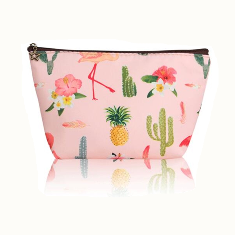 eTya New Travel Cosmetic Bag Women Fresh Flower Printing Makeup Case Organizer Set Girls Necessaries Beauty Toiletry Bag Pouch etya new portable lunch bag thermal insulated snack lunch box carry tote storage bag travel picnic food pouch for girls women