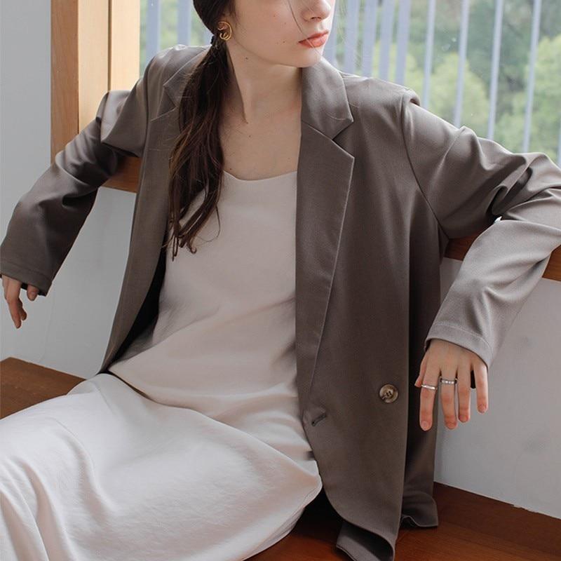Black Blazer Women Long Sleeve Casual Women Blazers And Jackets Woman Blazer 2019 Autumn Casual Women Jacket Blazer Korean in Blazers from Women 39 s Clothing
