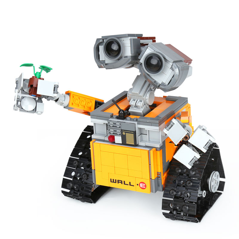 Lepin 16003 687pcs WALL-E Robot Building Set Kits Blocks Bricks Educational Toy For Children 2017new lepin16003 idea robot wall e building set kitstoys e kits blocks single sale brickstoystoys for childrenbirthdaygifts