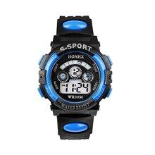 Модные водонепроницаемые детские часы для мальчиков, цифровой светодиодный кварцевые спортивные электронные кварцевые наручные часы с датой, Прямая поставка