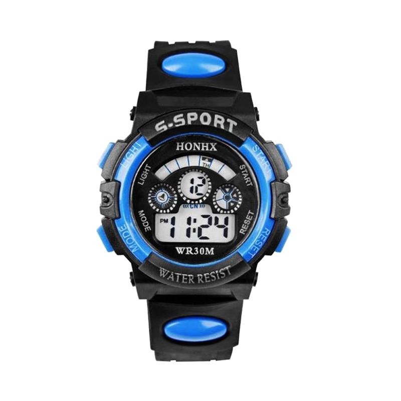 2018 Fashion Waterproof Children Kids Boy Watches Digital LED Quartz Date Sports Electronic Quartz Wrist Watch Dropship