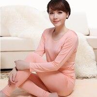 100% Silk Lady Thermal Underwear Sets Autumn Silk Thin Underwear Female Long Johns