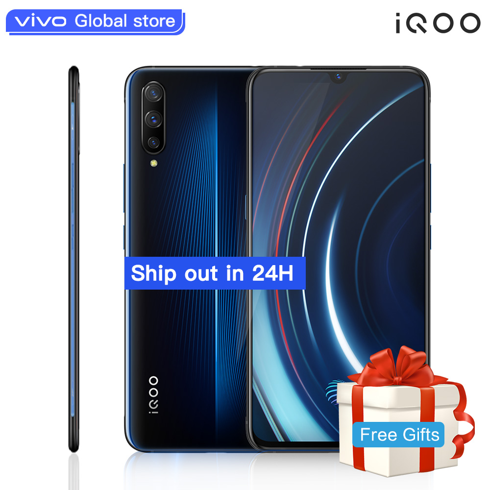 Autorizzato vivo celular iQOO Del Telefono Mobile Android 9 Snapdragon 855 NFC Tipo-C 4000mAh 44W di Carica Veloce freddo 4D Gioco Cellulare