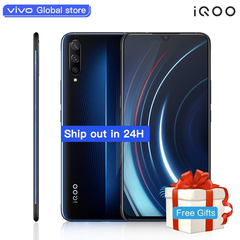 Téléphone portable autorisé vivo celulaire iQOO Android 9 Snapdragon 855 NFC type-c 4000mAh 44W Charge rapide Cool 4D jeu téléphone portable