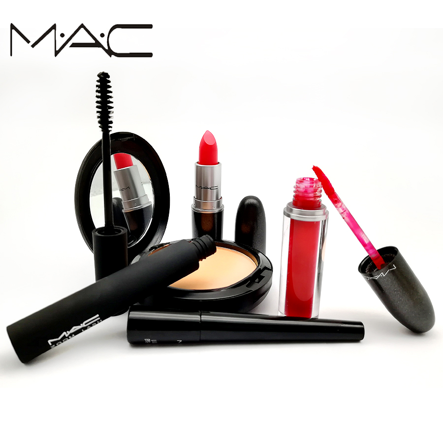 MAC Professional Makeup Sexy Limited Set Multi-function Matte Lipstick Matte Shimmer Lip Stick Lip gloss 1Set flamingo flamingo школьные ботинки для мальчика черные