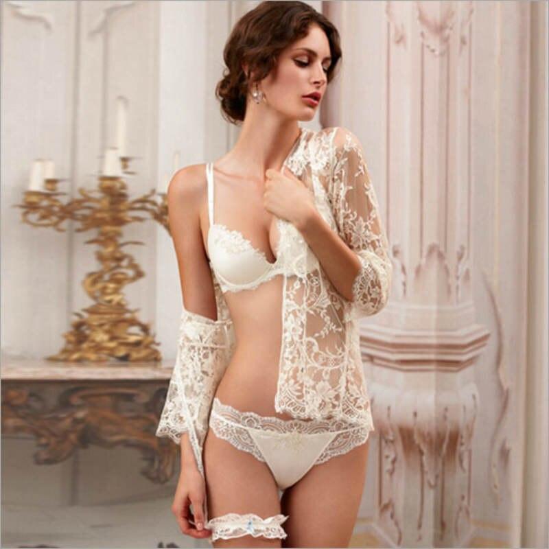 Encaje bordado conjunto de sujetador de las mujeres conjunto de ropa interior sexy de encaje - Ropa interior de encaje ...