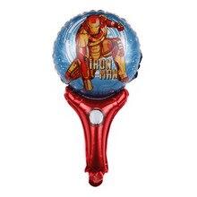 Handheld Stick Cartoon Hulk & Spiderman Foil Balloons happy Birthday Party Balloons Wedding Balloons Decoration supplier
