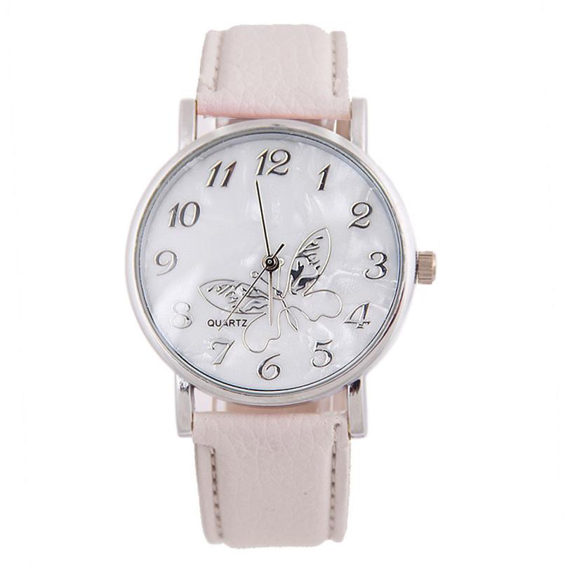 2016 embossed band wrist watches butterfly