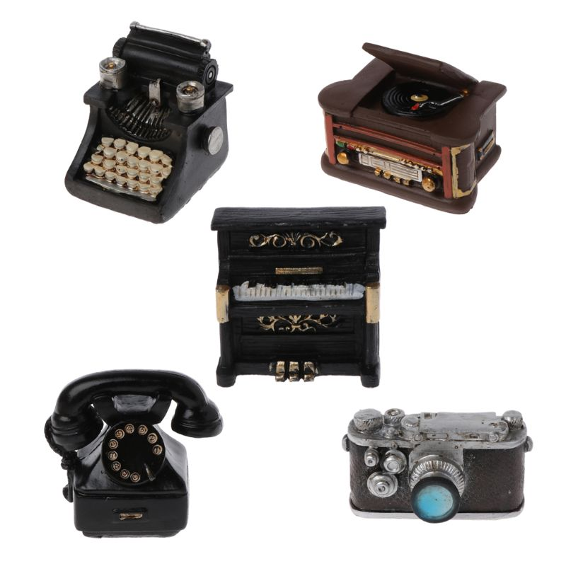 Newborn Photography Props Infant DIY Props Studio Accessories Retro Resin Mini Small Decoration Creation Gentlemen Camera