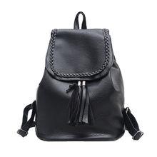 2017, Новая мода Винтаж кисточкой Рюкзаки ткачество Обувь для девочек школьная сумка Мягкий Рюкзак Мода кожаная сумка бесплатная доставка #7550526